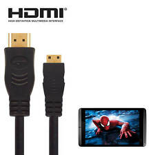 nVIDIA Shield Android Tablet HDMI Mini to HDMI TV 3m Gold Wire Cord Lead Cable