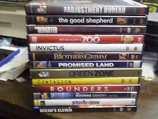 (15) Matt Damon DVD Lot: (2) Bourne Invictus Green Zone Contagion Rainmaker MORE