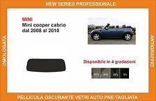 pellicola oscurante vetri pre tagliata mini cooper cabrio dal 08-10 kit lunotto