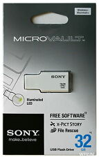 SONY 32GB USB 2.0 Micro Vault Tiny USB Flash Drive KEY 32G White Pink Green