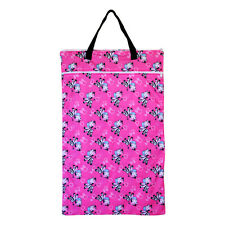 EcoAble Large Hanging Wet Dry Pail Bag for Cloth Diapers or Laundry, Zebra