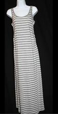 NWT GAP Maternity Gray White Striped Full-length Tank Dress Valuded $75 Size XL