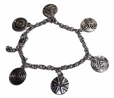 Teen Wolf TV Series ( 6 Themed Charms) Silvertone Assorted Metal Charm BRACELET