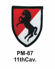 """3"""" 11th CAV. Embroidered Military Patch"""