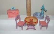 Fisher price Once upon a DREAM castle dollhouse furniture table chair water well
