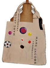 RARE SIGNED MARC JACOBS CREME TOT BAG WITH BADGE PINS -FOR DAISY FRAGRANCE
