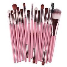 15Pcs Pro Makup Brushes Kit Eyeshadow Eyebrow Lip Foundation Powder Brush Kabuki
