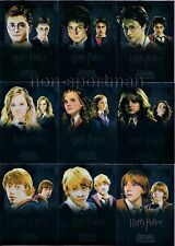 HARRY POTTER HEROES AND VILLAINS FOIL SET (9)