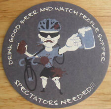 RED SHEDMAN FARM BREWERY CYCLOCROSS BIKE RACE Beer COASTER, Mat Mt Airy MARYLAND