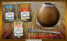 BIO Yerba Mate Set mit 3x50g von ökologischer Yerba Mate + notwendige Zubehör