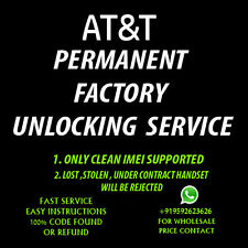 Blackberry Bold 9700 UNLOCK CODE ATT AT&T ONLY OUT OF CONTRACT FACTORY UNLOCK