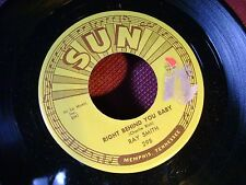 MINT/M- ROCKABILLY SUN 45~RAY SMITH~RIGHT BEHIND YOU BABY/SO YOUNG~HEAR