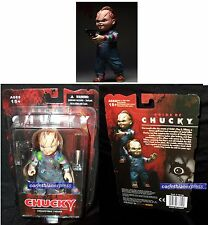 "Child's play Chucky 5 ""pollici Action figure W / Knife & GUN ACCESSORIO MEZCO Toyz"