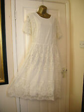 22 ASOS CURVE LACE DRESS MIDI EMBROIDERED MESH SUMMER HOLIDAYS PARTY WEDDING