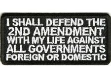 LOT OF 2 - DEFEND THE 2ND AMENDMENT EMBROIDERED BIKER PATCH