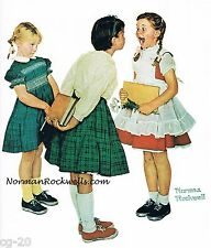 """Norman Rockwell Dentist cavity print: """"THE CHECK UP"""" """"NO CAVITIES"""" SHIPS FREE!"""