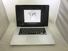 MacBook Pro 15 Mid 2010 MC371LL/A 2.4GHz i5 8GB 256GB SSD Good READ