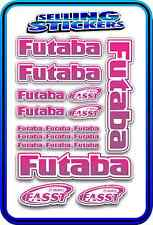 FUTABA SERVO RADIO RX TX 2.4G FLIGHT REMOTE CONTROL STICKERS FASST PINK PURPLE W