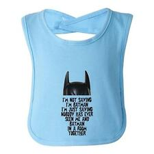 Beegeetees I'm Not Saying I'm Batman Infant Toddler Superhero Bib Funny Baby S