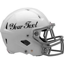 2x Personalizzato In Vinile Decalcomania Autoadesivo per NFL fooball ELMETTO. SCEGLI Colori e font