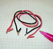 Miniature Black/Red Jumper Cables for Dollhouse Garage: DOLLHOUSE 1/12 Scale