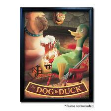 DOG & DUCK PUB SIGN POSTER PRINT | Home Bar | Man Cave | Pub Memorabilia