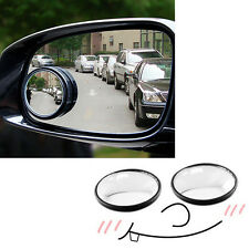 2Pcs Summit Blind Spot Mirror Round Adhesive 2'' Wide Angle For Auto Car Van