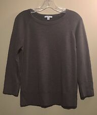 James Perse Standard Women's Soft Army Green LS Crewneck Sweater | Size 1 | EUC