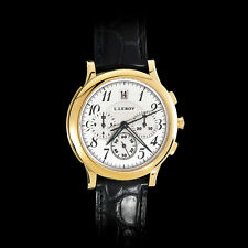 Watch L.Leroy Osmior 18K Gold Automatic Guilloche Chronograpf Winner of GPHG
