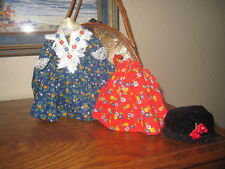 "Original Vintage  Dress apron and shaw for your  Madame Alexander 8"" dolls"
