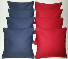 SET OF 8 NAVY & RED CORNHOLE BEAN BAGS FREE SHIPPING!!