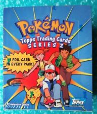 2000 Pokemon Topps Trading Cards Series 2 Sealed Booster Box TV Animation Series