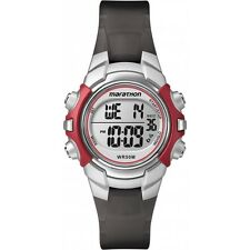 Ladies Timex Marathon Indiglo Digital Alarm Black Rubber Sports Watch T5K807