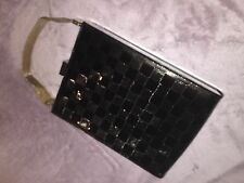 Authentic LOUIS VUITTON Ange GM Damier Noir Black Vernis Clutch Purse **RARE**