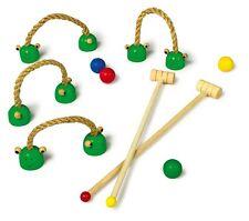 Wooden Frog Croquet Set Kids Fun Garden Game Toy