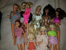 Lot of 8 Vintage 80's Barbie Friends sister black