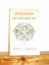 Operation Heartbreak by Duff Cooper HB novel in DW 1950 re Man who never Was,