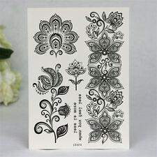 1 Pièce Tatouage Sticker Imperméable Temporaire Decal de Fleur avec Dentelle