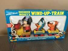 Walt Disney Mickey Mouse Vintage ILLCO Wind Up Train Kids Toys Brand New
