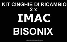 ★ KIT CINGHIE DI RICAMBIO 2 x PROIETTORE IMAC BISONIX Super 8 mm ★
