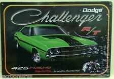 DODGE CHALLENGER metal sign RT 426 HEMI green super bee line mopar muscle dg-01