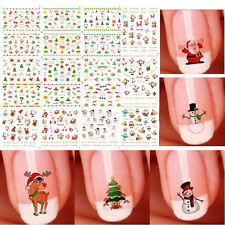 3D Christmas Snowflakes & Snowmen Nail Art Stickers Cute Nail Decal 12 Sheets