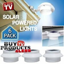 6 Pack Deal - Outdoor Solar Gutter LED Lights New