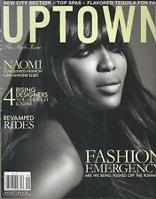 Uptown magazine Naomi Campbell Rising designers Revamped rides Fashion tips