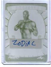 Zodiac 2016 Leaf Wrestling Yellow Printing Plate Autograph Card WWE SN 1 of 1