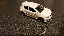 Diecast Volkswagon VW Golf R32 Mk5 MkV White Toy Car Keyring Keychain