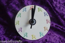 Multi Coloured Poodle CD Clock by Curiosity Crafts