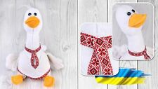 Ukrainian Soft Plush Toy Goose Vyshyvanka Souvenir Traditional Embroidered Shirt