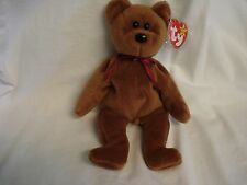 "Ty Beanie Babes-""TEDDY"" New Face Brown Bear ""ULTRA RARE""  -- ""IT'S A BOY"" MT"