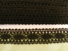 Cluney Cotton Black Galloon Lace - 23mm Wide (7009)30mt